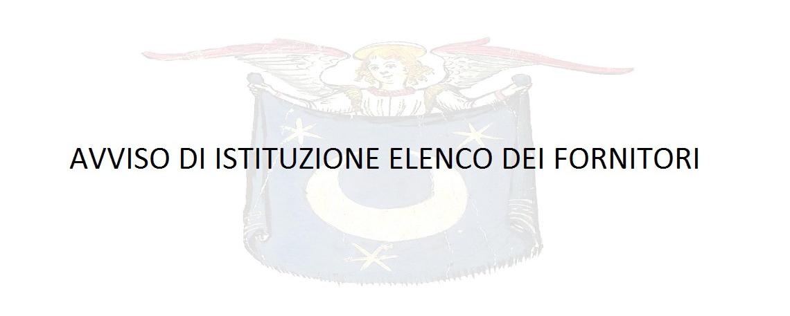 AVVISO ISTITUZIONE ELENCO FORNITORI